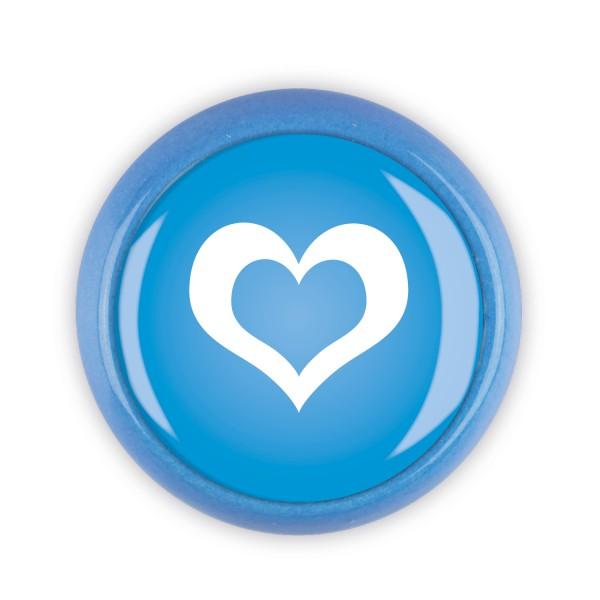 Restposten Möbelknopf Möbelknauf Möbelgriff 06516B Motiv Herz blau