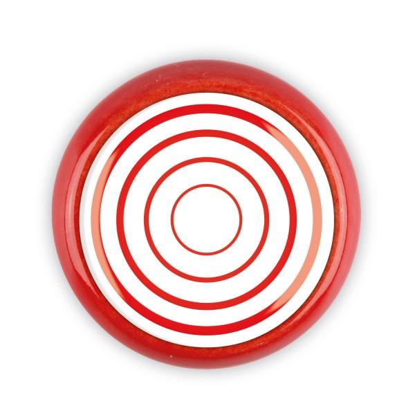 Restposten Möbelknopf Möbelknauf Möbelgriff 06691R Motiv Ringe rot