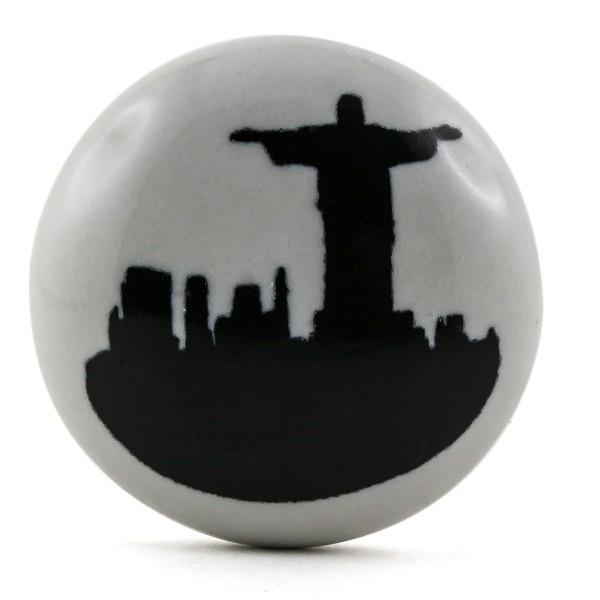 Restposten Möbelknöpfe Möbelgriffe Möbelknopf Keramik - Rio Cristo Brasilien