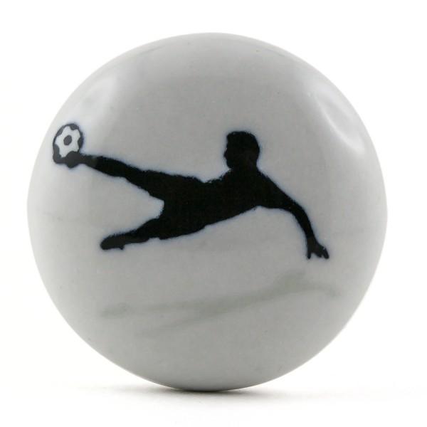 Restposten Möbelknöpfe Möbelgriffe Möbelknopf Keramik Fussball Spieler
