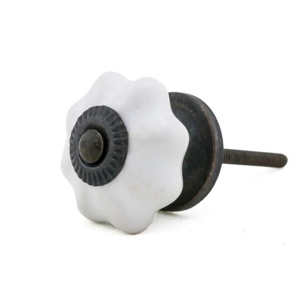 Möbelknopf Möbelknauf Möbelgriff 15020-A weiss klein pumpkin
