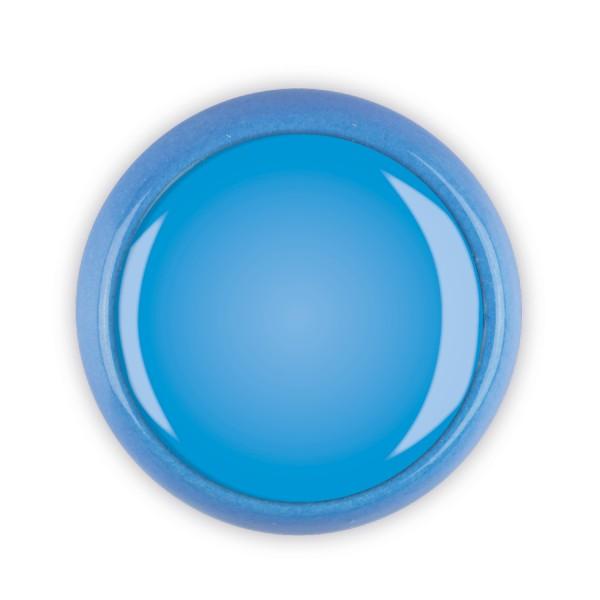 Restposten Möbelknopf Möbelknauf Möbelgriff 06351B Motiv uni blau