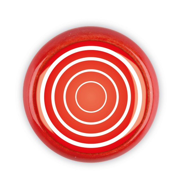 Restposten Möbelknopf Möbelknauf Möbelgriff 06383R Motiv Ringe rot