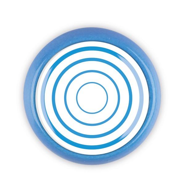 Restposten Möbelknopf Möbelknauf Möbelgriff 06687B Motiv Kreise blau