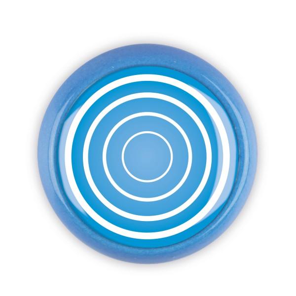 Restposten Möbelknopf Möbelknauf Möbelgriff 06381B Motiv Kreise blau