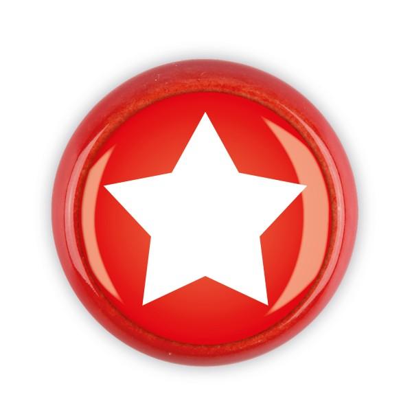 Restposten Möbelknopf Möbelknauf Möbelgriff 06615R Motiv Stern rot