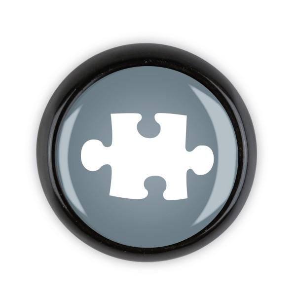 Restposten Möbelknopf Möbelknauf Möbelgriff 06381S Motiv Puzzle grau