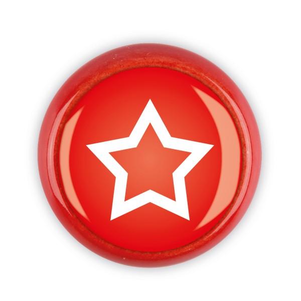Restposten Möbelknopf Möbelknauf Möbelgriff 06495R Motiv Stern rot