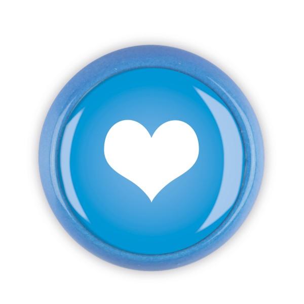 Restposten Möbelknopf Möbelknauf Möbelgriff 06435B Motiv Herz blau